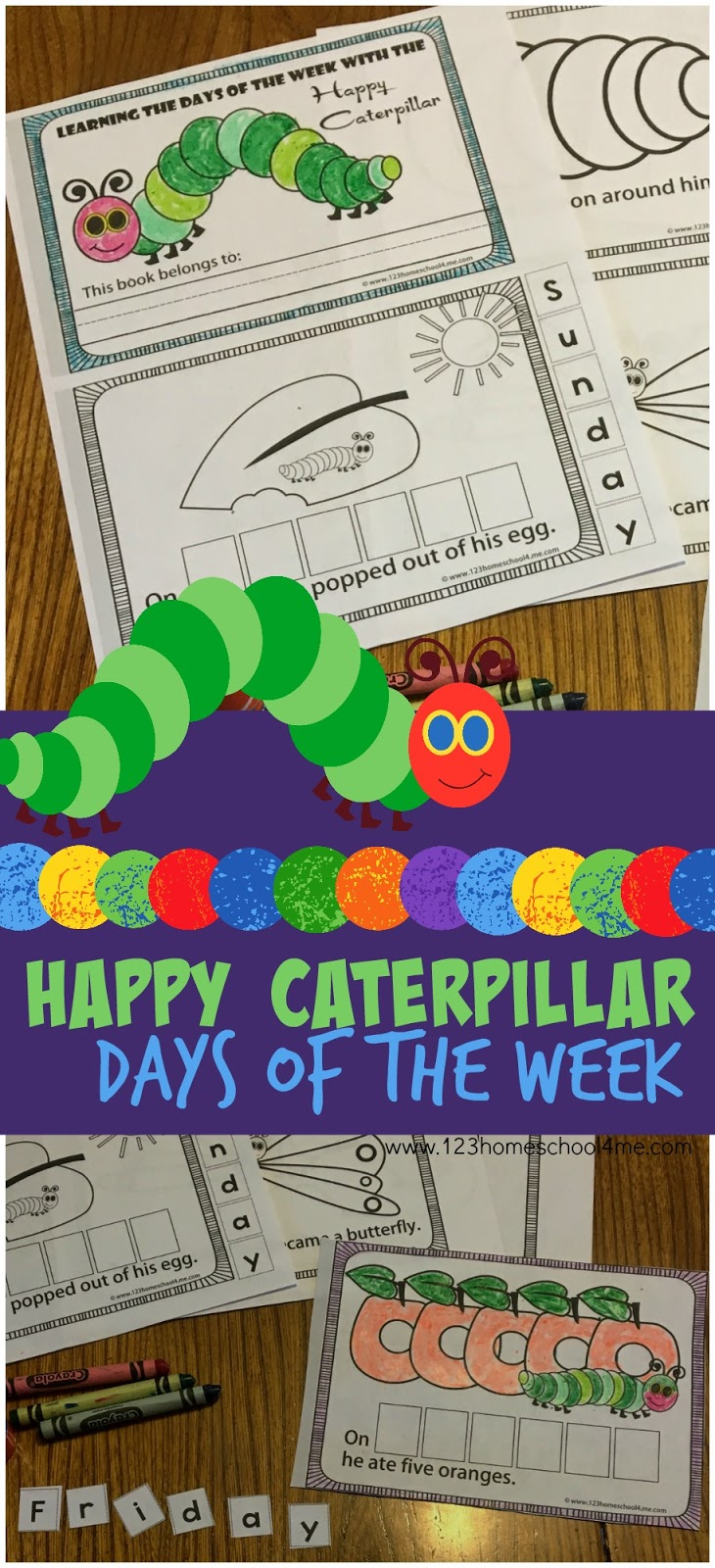 Hungry Caterpillar Days of the Week (FREE printable book)