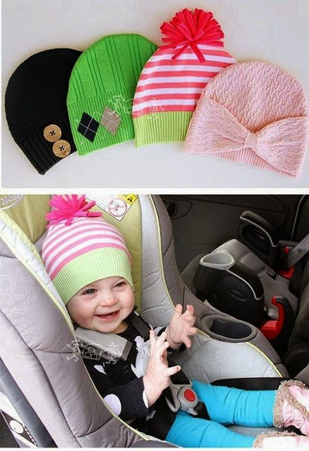 How to sew children's knitted cap.
