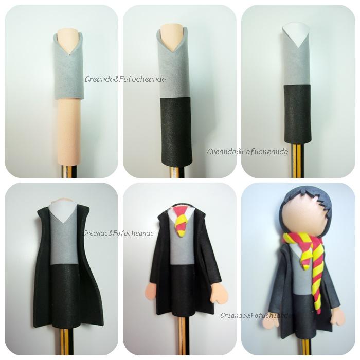 Como Hacer Un Fofulapiz De Harry Potter Creando Y Fofucheando
