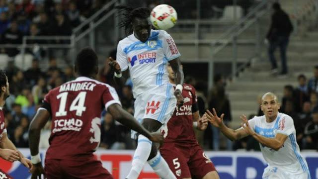 Bafé Gomis marque son 6e but de la saison contre Metz