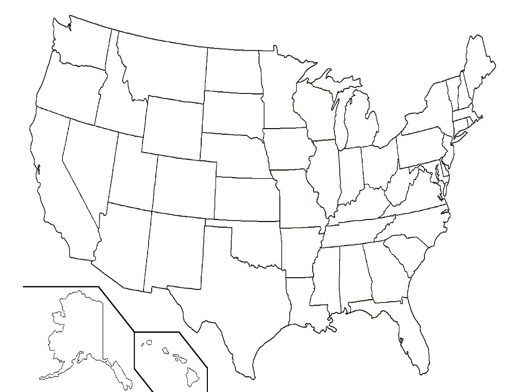 map united states blank