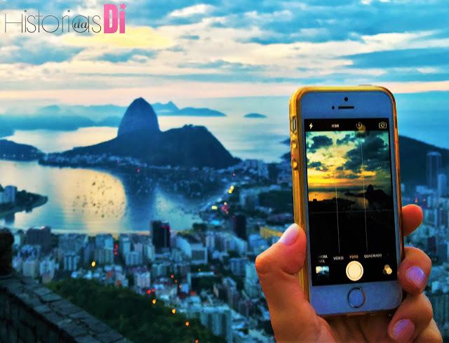 Nascer do sol do Dona Marta visto pelo celular