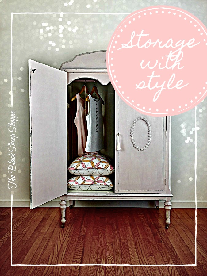Turn old furniture into a stylish storage solution.