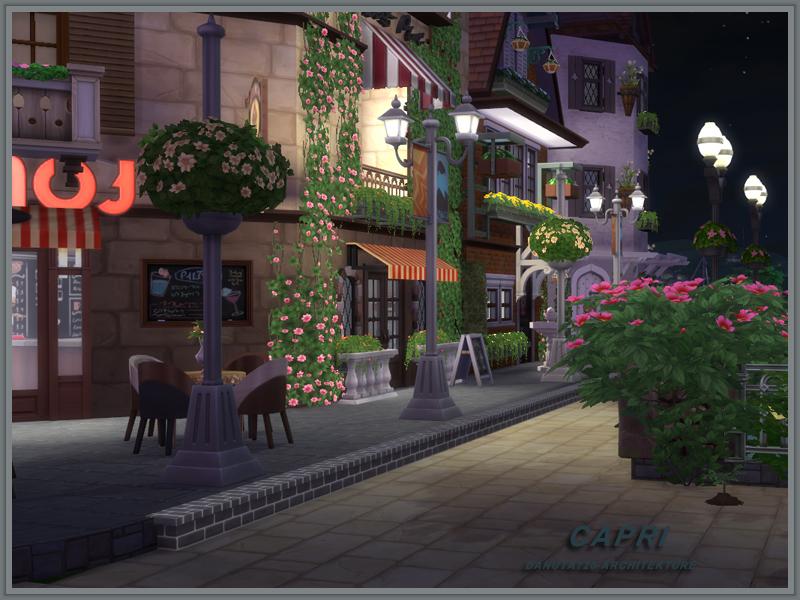 Capri Caf House  Sims 4 Houses