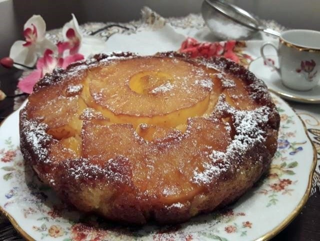 tarta-invertida-de-piña-y-mango, pineapple-mango-upside-down-cake