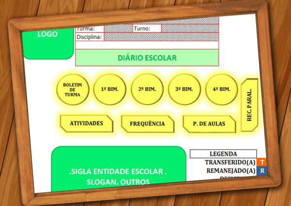 Diário Escolar - Planilha Eletrônica (Excel)