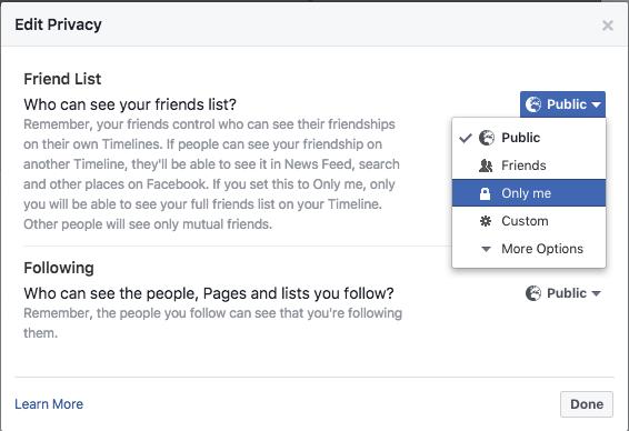 How to hide friends list on Facebook   Block friends list