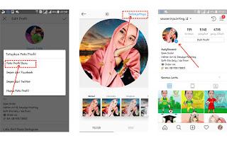 Cara Ganti foto Profi Instagram