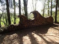 Empilage de bois aux baraques du 14