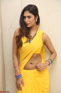 Nishigandha in Yellow backless Strapless Choli and Half Saree Spicy Pics 104.JPG
