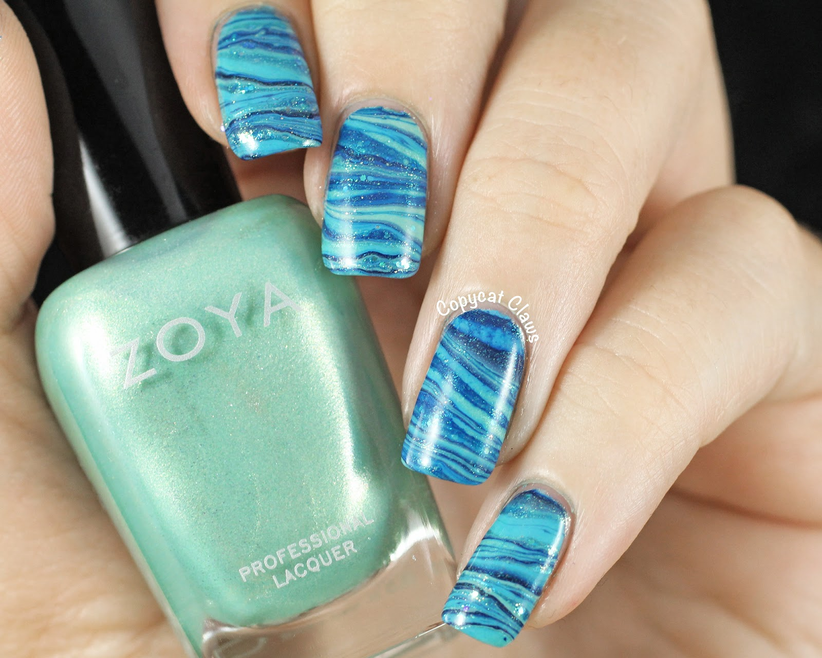 Water Nail Art: Copycat Claws: 31DC2014 Day 20