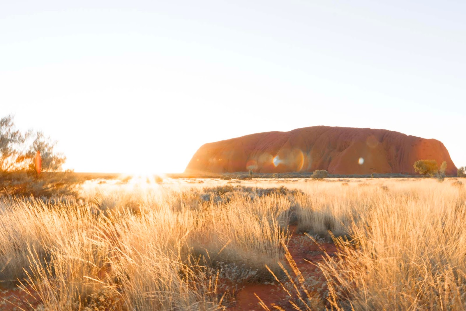 sunrise over uluru