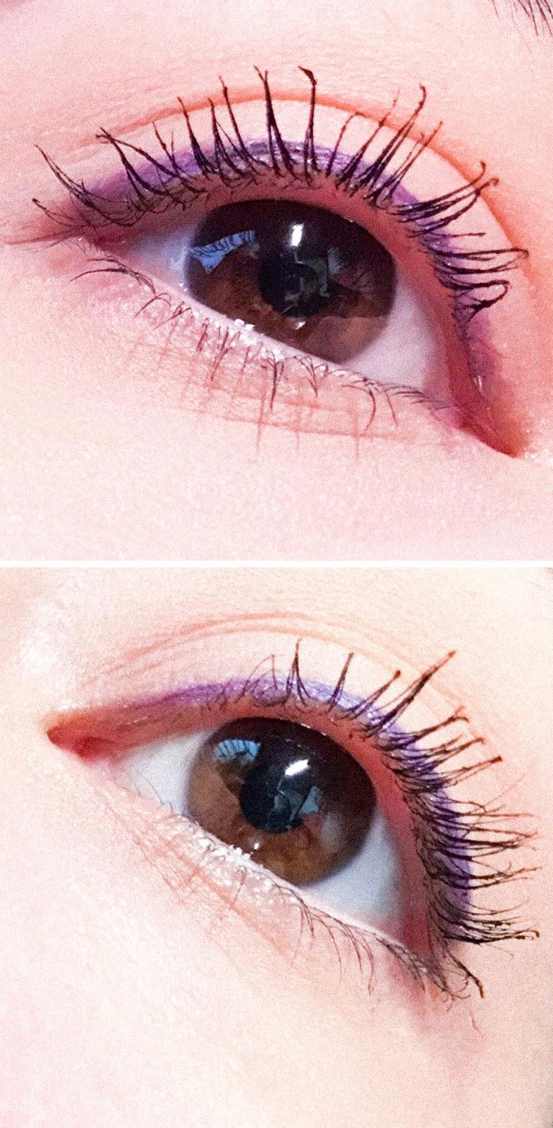 Naturalne kosmetyki do makijażu - polska marka Felicea, Naturalna maskara z silikonową szczoteczką efekt