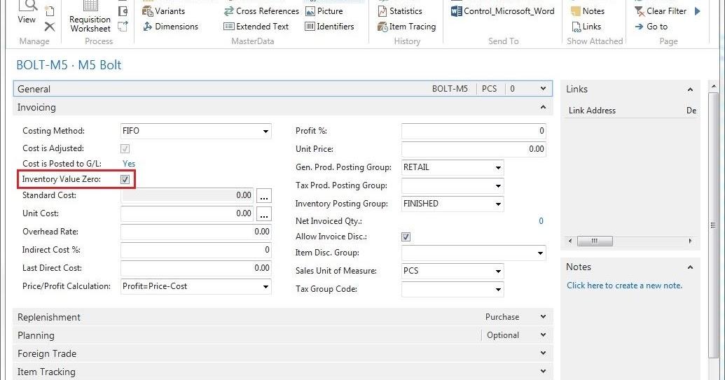 Prateek Gupta Microsoft Dynamics Blog Msdynnav Msdyn365bc Creating A Item With Inventory Value Zero In Navision