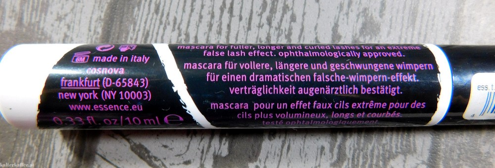essence The False Lashes Extreme Volume & Curl Mascara
