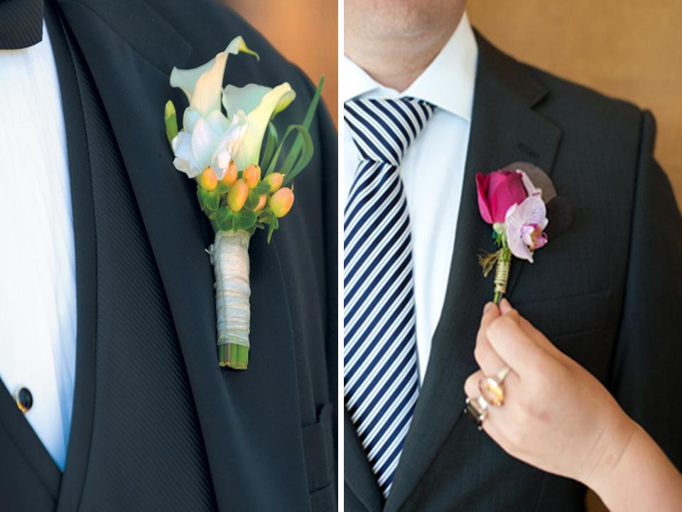 Lapelas diferentes para noivos e padrinhos