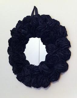 siyah ayna siyah güller dekorasyon paperfaces