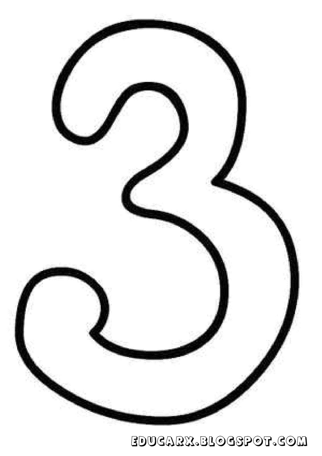 Molde do numero 3