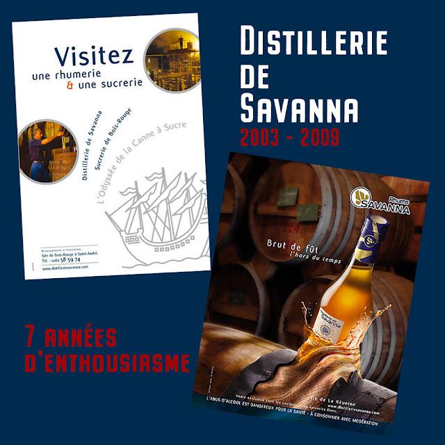 distillerie de savanna rhums de la réunion, publicité design