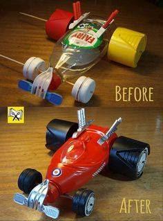 Juguetes hechos con materiales reciclados