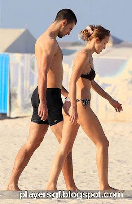 Jelena Ristic And Novak Djokovic On The Beach