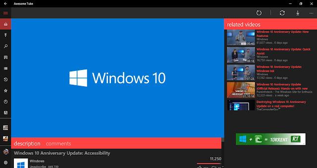Awesome Tube - Ứng dụng xem Youtube tốt nhất trên Windows 10