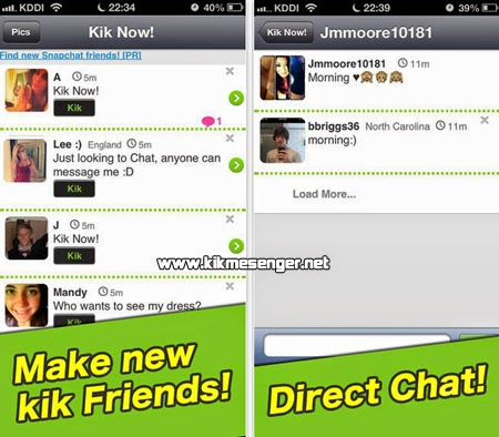 Chatea con gente nueva en Chat Now! for Kik Messenger en tu iPhone