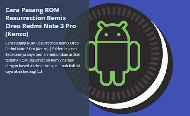 Custom ROM Resurrection Remix Oreo for Redmi Note  Custom ROM Resurrection Remix Oreo for Redmi Note 3 Pro (Fix All Bug)