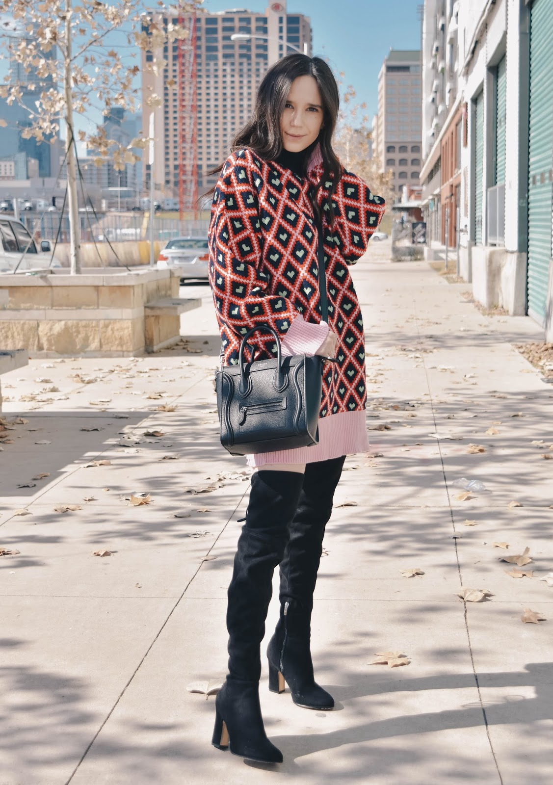 Oversized Sweater Dress Over The Knee Boots Simply Ana Fashion