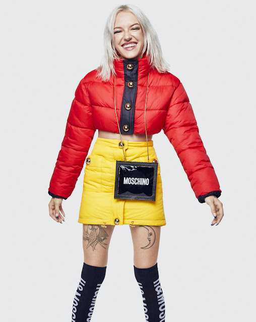 Moschino x H&M lookbook - Red jacket - Yellow skirt