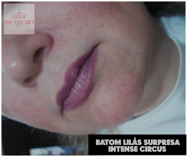 Batom Lilás Surpresa Intense Circus - O Boticário: Eu testei.