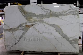 White Marble - Calacatta Gold Marble Slab in New York