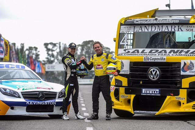 Diego Ciantini e Felipe Giaffone (Duda Bairros/Copa Truck)