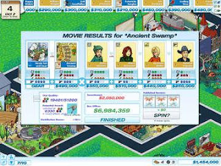 Hollywood Tycoon game collecting money