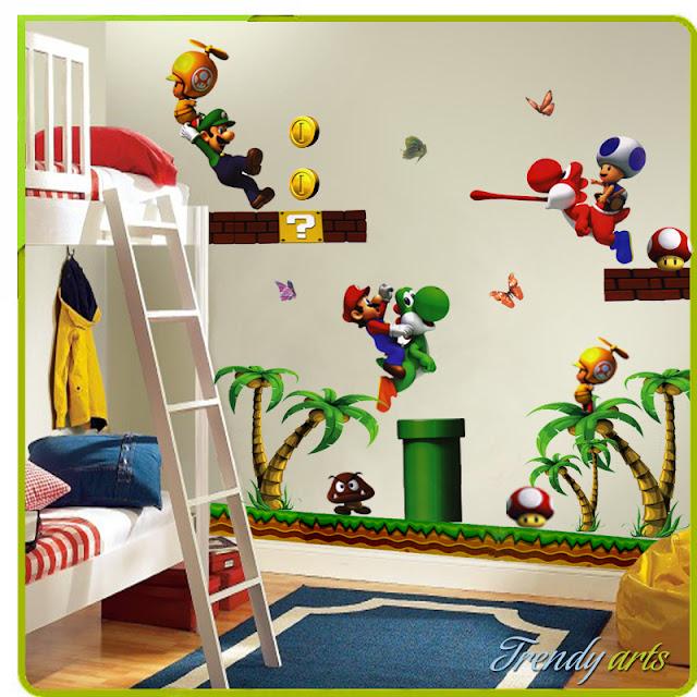 Super Mario Bedroom Decor
