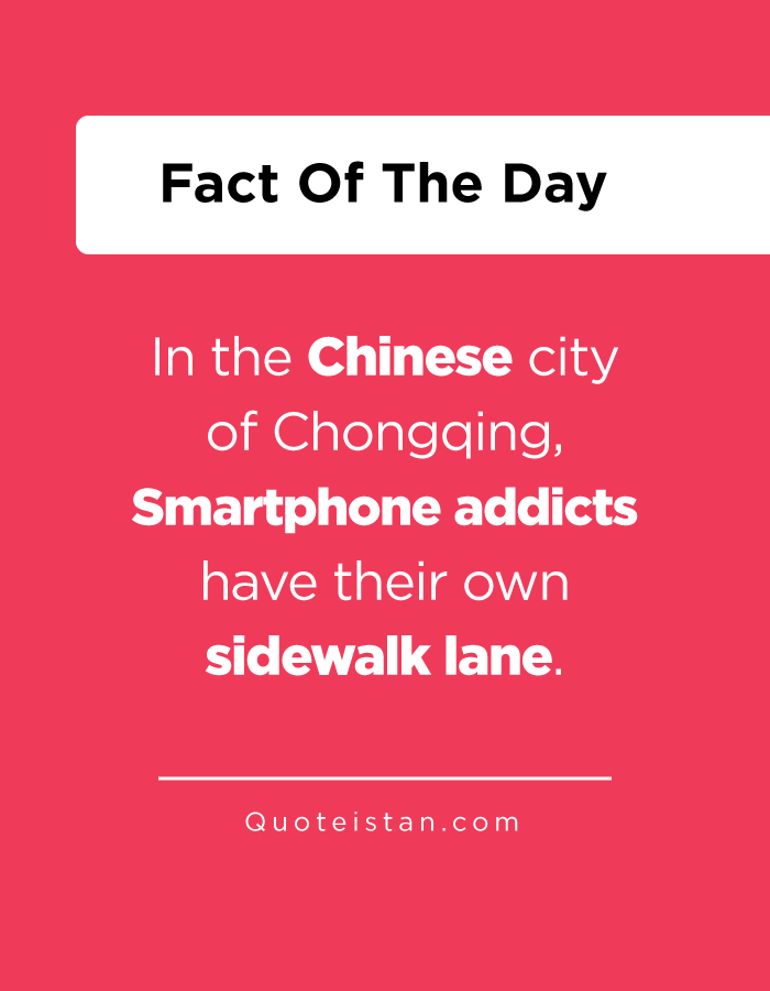 In the Chinese city of Chongqing, Smartphone addicts have their own sidewalk lane.