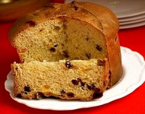 Pan dulce con frutas abrillantadas