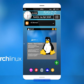 "[ SKIN KLWP ] Download tema "" Arch Linux "" for KLWP"