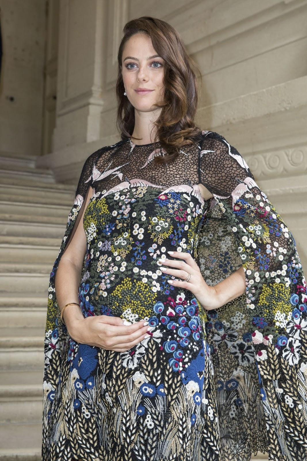 Kaya Scodelario at Valentino Menswear Spring Summer 2017 Paris Fashion Show