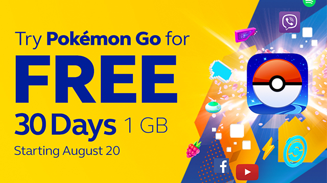 FREE 1GB Mobile Data access to Pokemon Go from Globe
