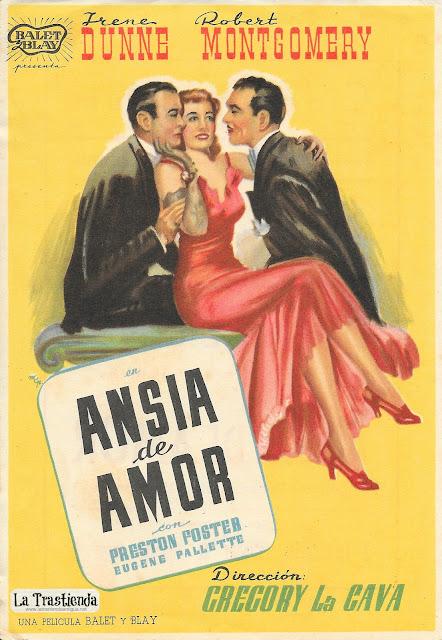 Ansia de Amor - Programa de Cine - Irrene Dunne - Robert Montgomery