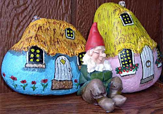 gnome, home, painted rocks, garden