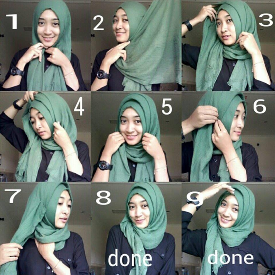 Foto Tutorial Hijab Yang Bikin Kamu Tampil Beda Hari Ini