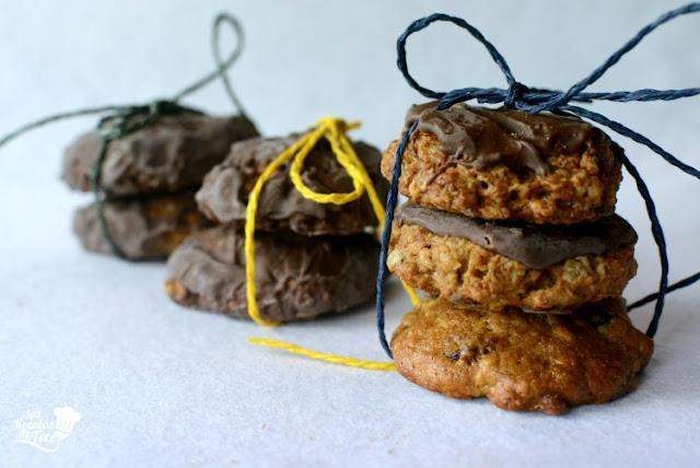 Galletas de muesli coco y cubierta de chocolate 01
