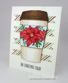 Oh Christmas treat by Irene features Poinsettia Blooms by Newton's Nook Designs; #newtonsnook