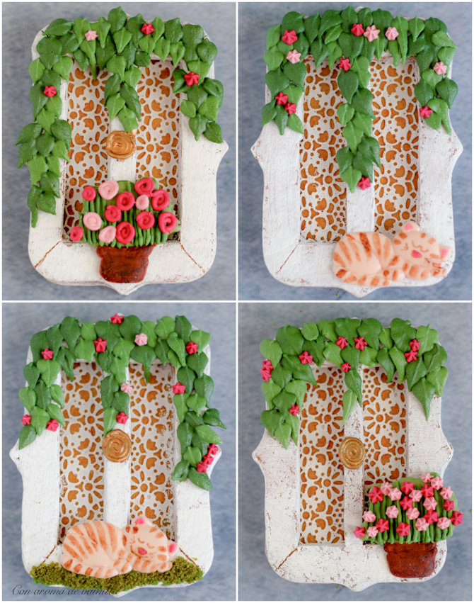 Galletas de dulce de leche decoradas. Tutorial galletas ventana.