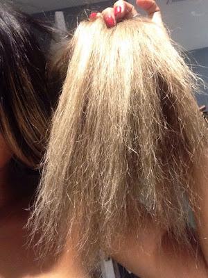 como identificar cabelo danificado