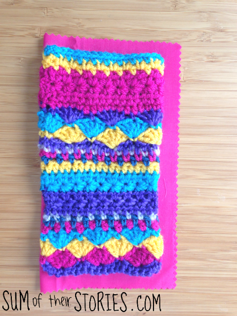 Twinkle star crochet glasses case