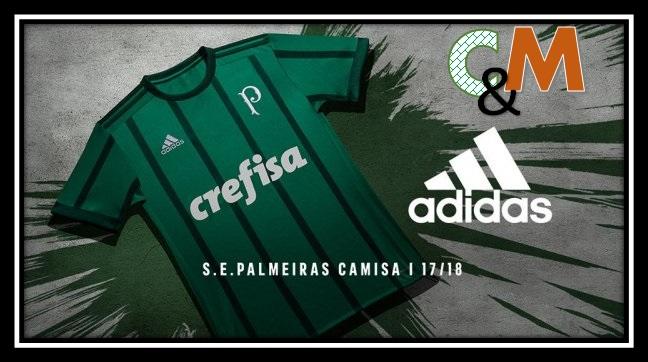 6bfca47c12 Camisas e Manias  Palmeiras   Adidas (Titular) 2017 18