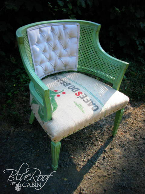 Blue Roof Cabin Coffee Sack Upholstered Chair
